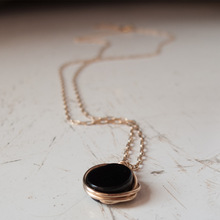 Black onyx necklace - made from Goldfiled