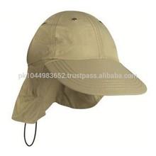 100% Cotton cheap baseball cap with ear flap