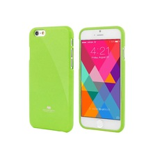 TPU case Jelly glitter pearl Mercury mobile phone case (Lime)