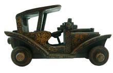 Batik Wood Miniature Vintage Car, Ford Model T (Scale 1:25)