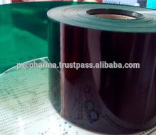 green transparent pvc rigid plastic film for food blister packaging