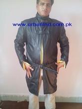 Custom Made Top Quality Wholesale Fashion Leather Long Coat For Men, Fashion Leather Men Long Coat