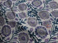 Designer sanganeri Hand block print fabric indian floral cotton printed fabric from india