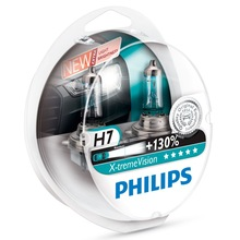 Genuine OEM Philips X-treme Vision +130% H7 Halogen Bulbs (Twin Pack) 12972XV+S2 - Also available in H1 and H4