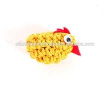 Small Yellow Crochet Chicken Fridge Magnet Home Decoration