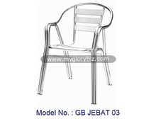 aluminium garden chair, outdoor chair, modern garden armchair