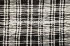 Square Stripe Black and White Pattern Fabric