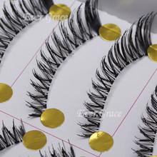 10 Pair Make Up Handmade False Eyelashes Fake Eye Lashes Extension Cross Natural