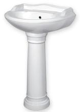 Top Selling Popular Ceramic Royal Wash Basin with Pedestal Exporter at Affordable Rate
