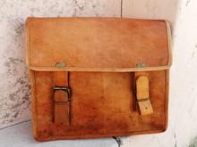 leather vintage bag messenger bag