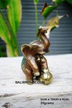 Standing Small Elephant Bronze Sculpture Bali Statue