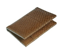 Card case - genuine salmon leather