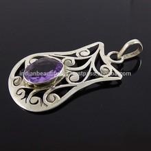 Amethyst Stone Sterling Silver Semi Precious Gemstone Women Jewelry