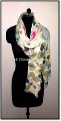 Multicolors Polka dots , Exclusive designer scarf for ladies,digital printed scarf