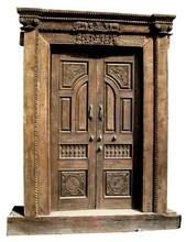 Architectural Vintage Carved Front door