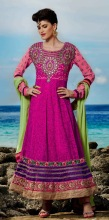Triveni Magnificent Embroidered Wedding Wear Anarkali Suit 605