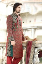 Triveni Tantalizing Wedding Wear Jacquard Sherwani 2354