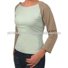 T Shirt Ladies Custom Your Design / Plain T shirt for ladies long sleeve