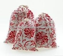 cotton small fabric drawstring bag