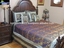 indian Designer Decorative Elephant Bedding Indian Sari Duvet Coverlet Zari Ensemble bedsheet