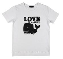 T-shirt for Children / Printed Tee - Love / White