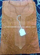 New Arrival 2015 100% Cotton Chicken Design Kurta Kurti Top Tunic Lakhnavi chicken embroidery kurti