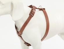 Genuine Leather Adjustable Dog Harness for Medium Breeds Black or Brown