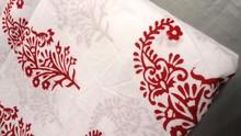 New Indian hand block printed jaipur fabric hand decor Designer Paisley printed fabric wholesale good price manufacturer