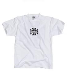 West Coast Choppers T-Shirt Iron/Original Cross Tee - Size: XL - Color: weiss
