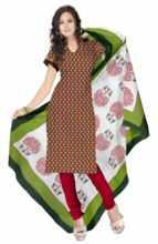 Triveni Fancy Cotton Salwar Kameez With Pure Dupatta 0018