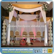 RK aluminum backdrop stand pipe drape ceiling drape fabric