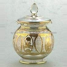 Handmade Glass Candy Jar
