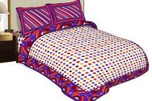 Triveni Stylish Colorful Ball Print Double Bed Sheet 2301