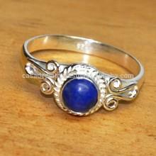 Lapislazzuli pietra, matrimonio anello in argento sterling 925 er1551