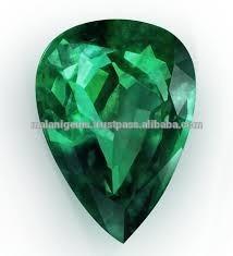 Gemfields emerald-cut emerald in a teardrop shape