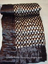 Wholesale Jaipuri Single Bed Razai in traditional Sanganeri Hand Block Floral Gold print Quilt