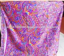 New Arrival 2015 Unique Print Vintage Pure Silk Sari SOIE Saree Dress Fabric