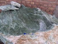 Nephrite Jade big good size boulders natural stones green dark color
