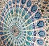 Mandala tapestry white tapestry blue mandala tapestry mandala wall hanging