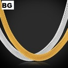 18K gold plated chain Unisex Trending fashion chain in gold and platinum plated chain