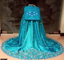 Telekung (Prayer clothes) with beautiful embroidery - semi silk B31