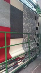 100% Wool acrylic look floor rug machine technique modern hotel carpet