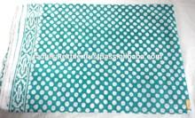 RTHCFC-21 Handmade Block Printed Cotton Fabric Pol Ka Dot Border Style Fabric Manufacturer Jaipur