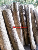 4' x 8' (feet), 1 inch strip size Lauhala Mat Wall Covering Wall coating