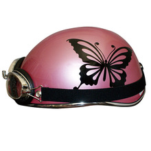 Pearl colors line up helmet.Butterfly motif for girls rider.