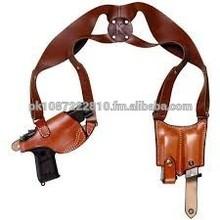 Genuine leather pistol shoulder holster
