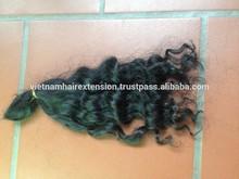 Hot selling machine weft 5a virgin human hair extension deep wavy hair