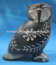 Original owl sculptures in Soapstone