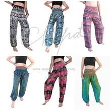 Thai pants Yoga Boho Gypsy Hippie Pants Comfy Harem Bohemian Bangkok pants