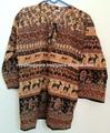 indian multi cor tradicional das mulheres um tamanho top blusa de etnia cigana impresso